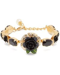 Dolce & Gabbana - Rose And Faux Pearl Bracelet - Lyst