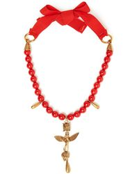Valentino - Bead Embellished Necklace - Lyst