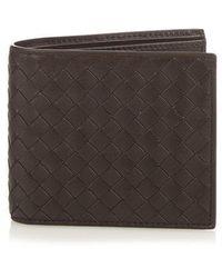 Bottega Veneta - Bi-fold Intrecciato Leather Wallet - Lyst