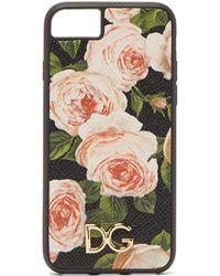 Dolce & Gabbana - Rose Print Leather Iphone® 7 & 8 Plus Case - Lyst