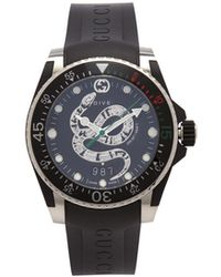 Gucci - Dive Kingsnake Stainless Steel Watch - Lyst