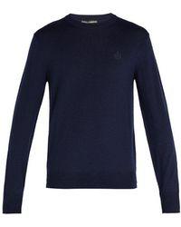 Dolce & Gabbana - Crown-embroidered Wool Jumper - Lyst