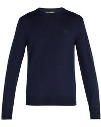 Dolce & Gabbana - Crown-embroidered Wool Sweater - Lyst