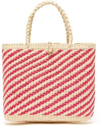 Sensi Studio - Canasta Woven Striped Toquilla Straw Basket Bag - Lyst