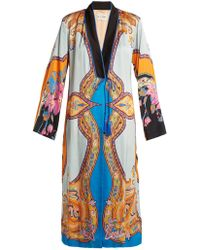 Etro - Jasper Paisley And Floral-print Crepe Coat - Lyst