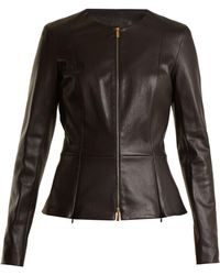The Row - Anaste Collarless Leather Jacket - Lyst