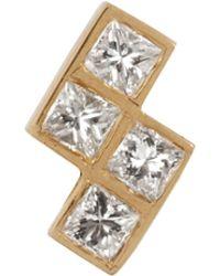 Ileana Makri - Diamond & Yellow-gold Earring - Lyst