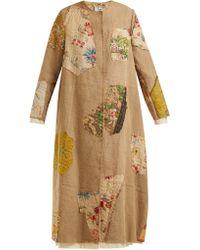 By Walid - Tari 19th Century Print Linen Coat - Lyst
