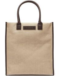 Want Les Essentiels De La Vie - Aberdeen Leather Trimmed Canvas Tote Bag - Lyst