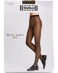 Wolford - Mystic Amber Houndstooth Tights - Lyst