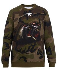 Givenchy - Cuban-fit Camouflage-print Cotton Sweatshirt - Lyst