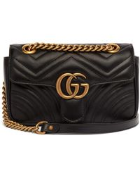 758f270fcb3 Gucci - Gg Marmont Mini Quilted Leather Cross Body Bag - Lyst