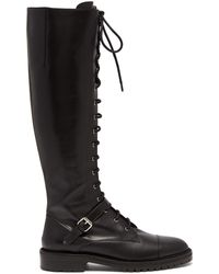 Tabitha Simmons - Alfri Lace-up Leather Knee-high Boots - Lyst