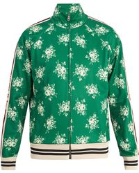 Gucci - Floral-print Web-trimmed Jersey Track Top - Lyst