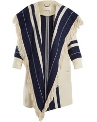 Chloé | Striped Cotton And Wool-blend Blanket Coat | Lyst
