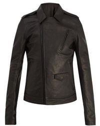 Rick Owens - Point-collar Leather Jacket - Lyst