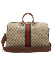 Gucci - Ophidia Gg Supreme Logo Weekend Bag - Lyst