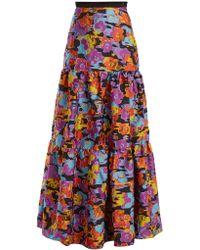 Mary Katrantzou - Bridge Floral Fil Coupé Skirt - Lyst