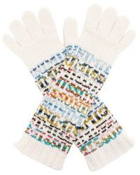 Missoni - Logo Knitted Wool Blend Gloves - Lyst