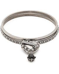 Alexander McQueen - Faux Pearl-embellished Heart-drop Bracelet - Lyst