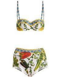Dolce & Gabbana - Pepper-print Bikini Set - Lyst