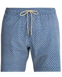 Faherty Brand - Beacon Fish-scale Printed Swim Shorts - Lyst