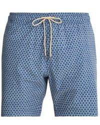 Faherty Brand - Beacon Fish-scale Printed Swim Shorts - Lyst