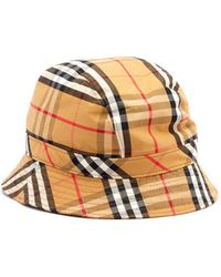 c648919bdb3 Burberry - Vintage Check Cotton Bucket Hat - Lyst