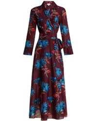 Diane von Furstenberg - Hewes Print Cotton And Silk Blend Wrap Dress - Lyst