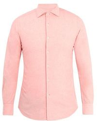 Glanshirt - Long-sleeved Slim-fit Cotton Shirt - Lyst