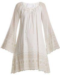 Athena Procopiou - Sunday Morning Embroidered A-line Dress - Lyst