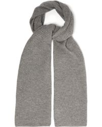 Allude - Waffle Knit Cashmere Scarf - Lyst