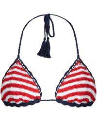 Anna Kosturova - Sailor Sliding Striped Bikini Top - Lyst