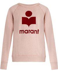 Étoile Isabel Marant - Milly Logo-print Sweatshirt - Lyst