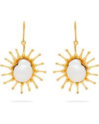 Sylvia Toledano - Sun Mother Of Pearl Baroque Drop Earrings - Lyst