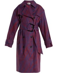 Diane von Furstenberg - Visconti-print Cotton-blend Trench Coat - Lyst