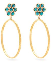 Sylvia Toledano - Flower Gold Plated Clip On Hoop Earrings - Lyst