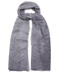Title Of Work - - Solid Cashmere Scarf - Mens - Grey - Lyst