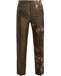 F.R.S For Restless Sleepers | Tartaro Floral-print Satin Pyjama Trousers | Lyst