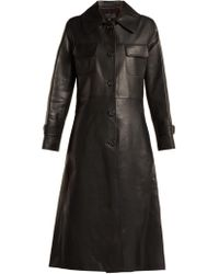 Nili Lotan - Point-collar Leather Trench Coat - Lyst