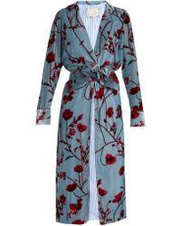 Johanna Ortiz - Florari Belted Velvet Coat - Lyst