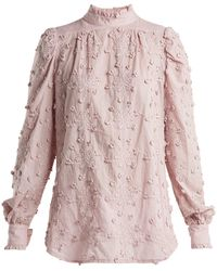 See By Chloé - Embroidered Cotton Blouse - Lyst