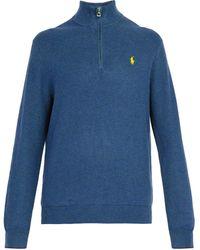 Polo Ralph Lauren - High Neck Waffle Knit Cotton Sweater - Lyst