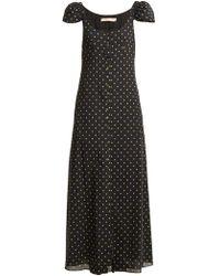 Brock Collection - Polka Dot-print Button-down Silk Dress - Lyst