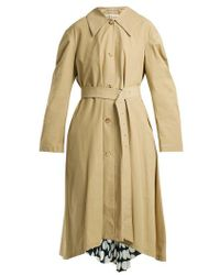 Awake - Polka-dot Panel Cotton-blend Trench Coat - Lyst