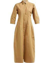 Jil Sander - Garden Cotton Poplin Shirt Dress - Lyst