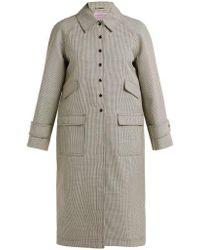 ALEXACHUNG - Houndstooth Wool-blend Coat - Lyst