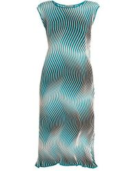 Issey Miyake - Flow Cosmic Pleated Striped Dress - Lyst