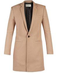 Saint Laurent - Single-breasted Cashmere Coat - Lyst