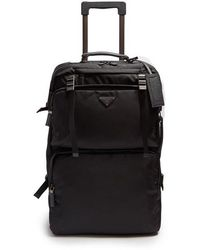 Prada - Multi-pocket Nylon And Leather Suitcase - Lyst
